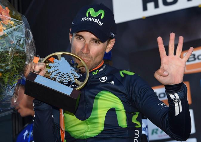 Y van cuatro. Alejandro Valverde no se cansa de ganar en Huy. © ASO