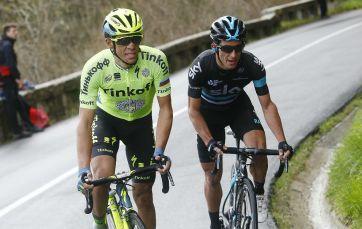 Contador no se lo pensó dos veces, y atacó en la primera rampa de Arrate. Solo un fortísimo Henao pudo seguir al madrileño.