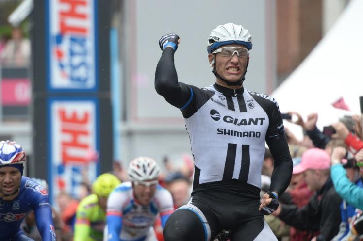 Kittel celebra una de sus victorias en el Giro 2014. © TDWSport
