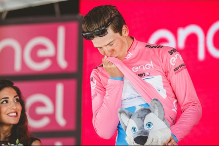 Que bonito es ser líder del Giro de Italia