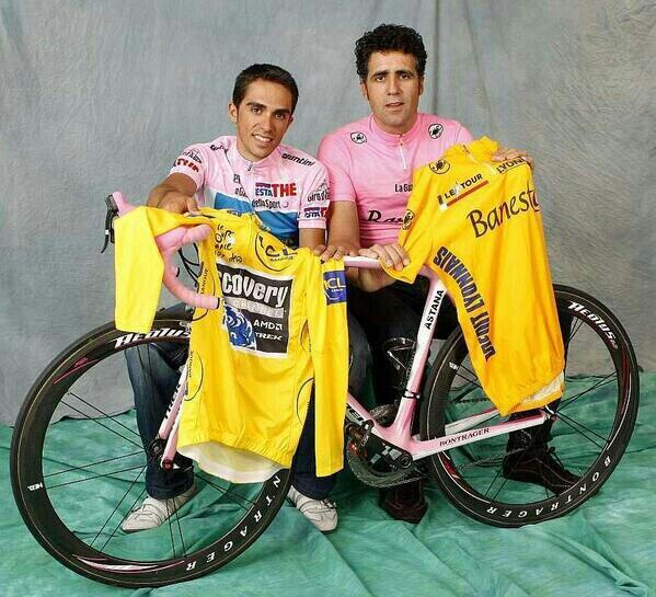 Contador e Indurain son, hasta la fecha, los únicos ciclistas españoles que han triunfado en el Giro.