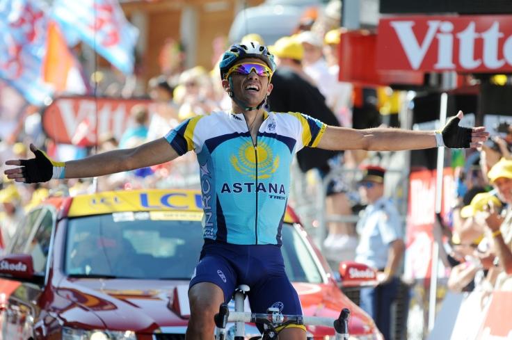 La mejor victoria de Contador en el Tour tuvo lugar el 19 de julio de 2009. El de Pinto, por entones en Astana, reventó la carrera en Verbier.