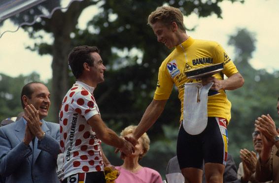 Cycling - Bernard Hinault and Greg Lemond