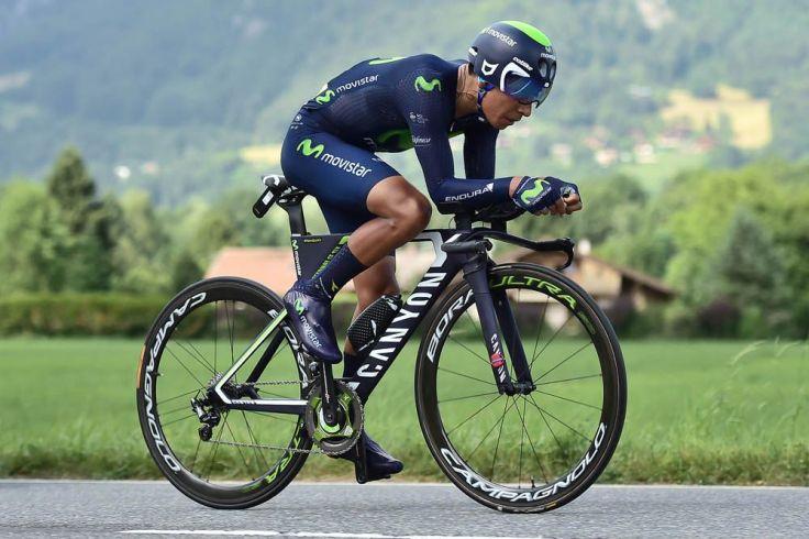 No fue su día. En la contrarreloj, la disciplina en la que más ha trabajado durante el año, Quintana se dejó 2 minutos con Froome y prácticamente todas sus aspiraciones a ganar el Tour. © Tim de Waele