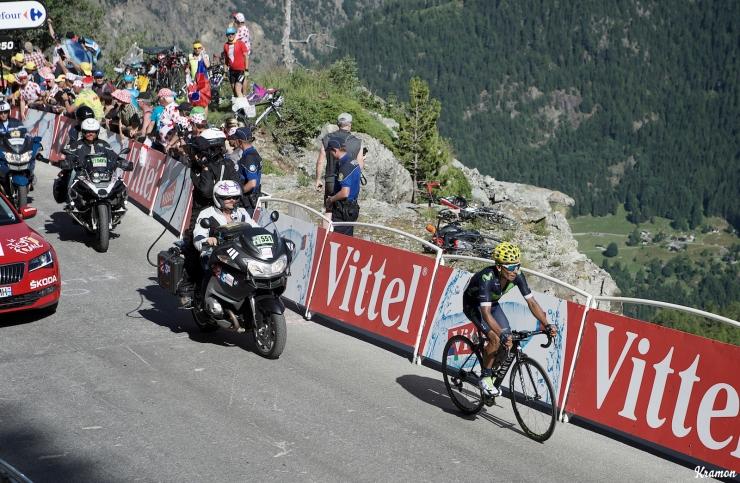 En Finhaut Emosson, Quintana demostró no haber preparado el Tour correctamente. Cedió ante todos sus rivales directos en el puerto suizo. © Kramon / CyclingTips