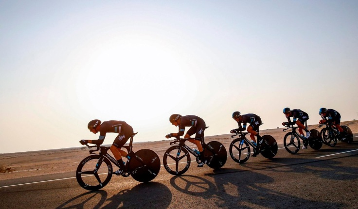 Contrarreloj por equipos ciclismo