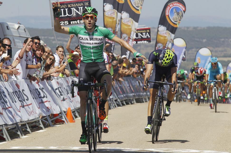 Etapa y liderato en casa. En 2015, Barbero logró una victoria importantísima ante sus paisanos en la carrera de su tierra. © Vuelta a Burgos