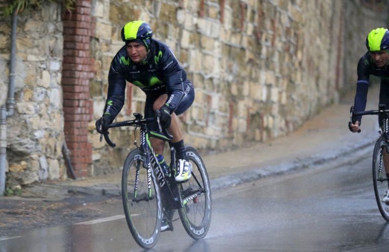 """Al palo en la San Remo. En el año 2014, Juanjo Lobato, cuarto, se quedó a las puertas del podio en el """"monumento"""" italiano. © RCS"""