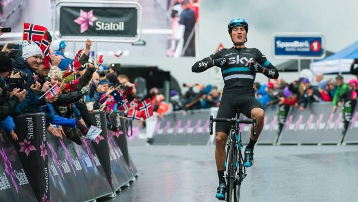 Sino es el ciclista más prometedor del pelotón, no está lejos. Moscon es un diamante en bruto que en 2016 ya dio muestras de su inmensa calidad. © Velonews