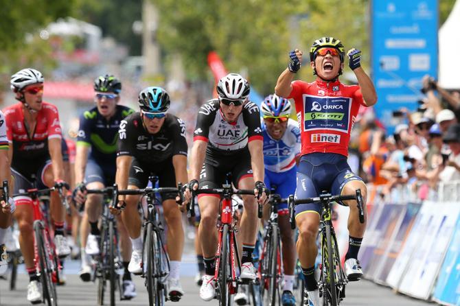 Cuatro victorias de cuatro posible, batiendo en tres de ellas a Peter Sagan. El inicio de temporada que se ha marcado Caleb Ewan ha sido espectacular. © Tim de Waele